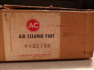Nos Gm Corvette Air Cleaner Base W breather Tube 327 350 427 6422188