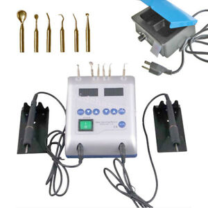 Dental Led Electric Waxer Carving Pen Machine 3 well Pot Analog Wax Heater Tool