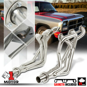 Ss Long Tube Exhaust Header Manifold For 72 91 Dodge D w Series Pickup 5 2 5 9
