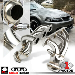 Stainless Steel Shorty Exhaust Header Manifold For 99 04 Ford Mustang 3 8 3 9 V6