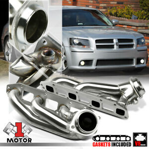 Stainless Steel Exhaust Header Manifold For 05 10 Magnum 300 Charger 5 7 Hemi V8