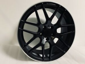 New 18 Mercedes Benz Amg E63 S Style Black Machine Lip Rims Wheels Fits S Class