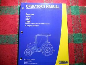 New Holland Boomer 3040 3045 3050 Tractor Operators Manual Free Shipping