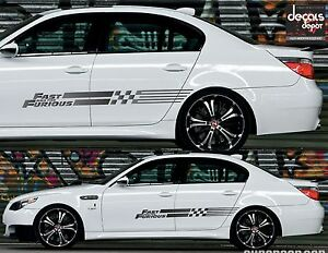 2x Universal Decal Stripes The Fast And The Furious Bmw M5 Honda Civic Si