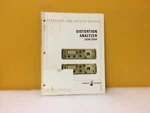 Hp Agilent 00435 90018 Distortion Analyzer 333a 334a Operating service Manual