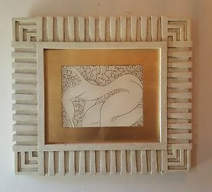 Signed Mid Century Abstract Mosaic Style Of Matisse 1981 Signed Reverse Bernal