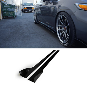 2012 2015 Honda Civic Si Side Skirt Extension V2 Coupe