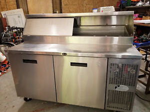 Nice Randell 8148w Refrigerated Raised Rail Prep Table Two Door Cooler