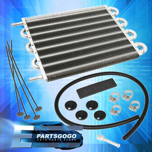 Universal Oil Transmission Power Steering Cooler Kit 12 X 10 X 0 75 Inch Silver