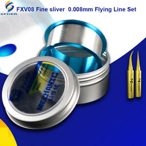 500m 0 008mm Fine Flying Line Set Pure Copper Iron Tips For Bga Chips Repair