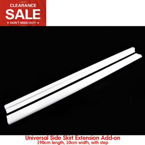 Car styling Universal Frp Fibre Glass Side Skirt Extension Add On Bodykits