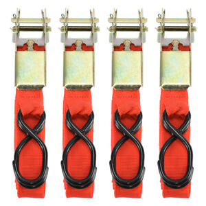 4pc 1 X15 Ratcheting Tie Down Cargo Straps Truck Bed Motorcycle Hauling Moving