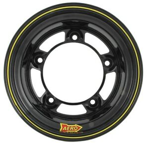 Aero Race Wheels 58 series 15x10 4in Bs Wide 5 Steel Black