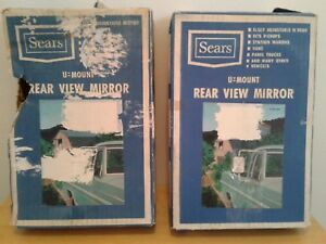 Vintage Sears Roebuck U mount Side Mirror Truck Van Left Or Right Bonus Parts