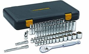 Gearwrench 80550p 56 pc Sae metric 3 8 Drive 6 Point Standard Depth Socket Set