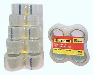 24 Pack Clear Packing Tape 3 Inch Wide 2mil Thick 110 Yards Refill Roll Strong