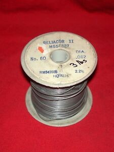 3 Lbs Alpha Metals Ms58327 Reliacore 2 No 60 032 Dia 2 2 Solder Wire