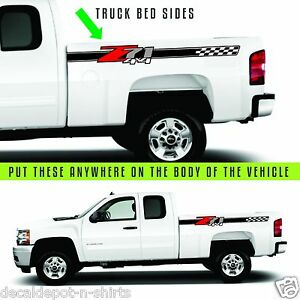 Chevy 07 17 Silverado Gmc Sierra Decal Vinyl Sticker Rocker Panel 2x Z71 4x4