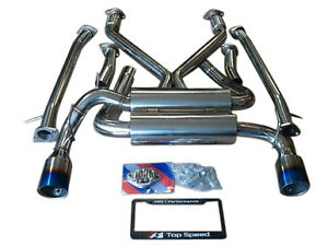 Top Speed Pro 1 63 5mm Ti Tips Catback Exhaust Systems 370z Z34 Vq37vhr 09 19