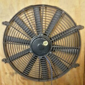 12 Volt 12v Electric Radiator Cooling Fan 16 Inch Dia Push pull 10 Blade