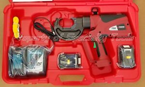 Burndy Pat750li Hydraulic Battery Operated Crimper Patriot Crimping Tool Demo