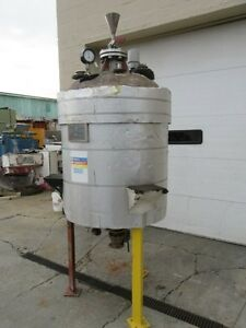 100 Gallon Stainless Steel Reactor Body 316 S s 25psi fv And 100 Psi Jacket