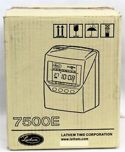 Lathem Automatic Punch card Calculating Time Clock 7500e