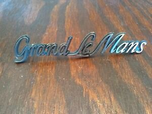 Vintage Rare Original 1970 S Pontiac Grand Lemans Oem Emblem Usa Seller