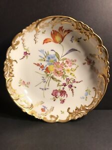 An Antique French Porcelain Plate Hand Painted Signed And Dated 1898