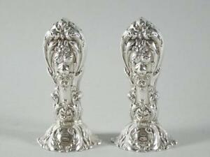 Pair Reed Barton Francis I Sterling Silver Salt Pepper Shakers