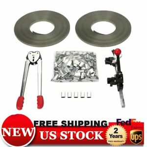 Complete Tools Packaging Strapping Tool Kit 400 Seals 2 Banding Rolls 345ft