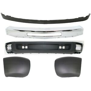 Bumper For 2009 2013 Chevrolet Silverado 1500 Front Set Of 5