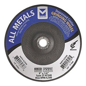 Mercer Industries 623500 Type 27 All Metals Grinding Wheel 9 X 1 4 X 7 8 15