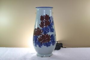 Chinese Vase With Iron Red Peonies And Cobalt Blue Foliage
