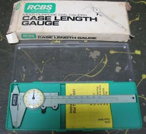 RCBS multi-purpose dial caliper gauge w case & instructions Swiss-made