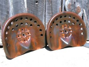 Two Steel Tractor Farm Machinery Metal Stool Seat S New Old Style