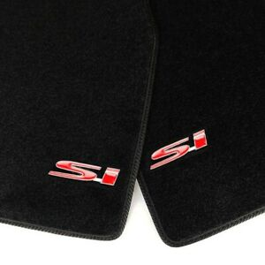 Black Front Rear Floor Mats Carpets W 2 X 3d Si Emblems For 96 00 Honda Civic