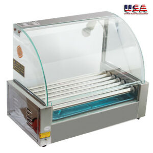 New Quality Commercial 18 Hot Dog Hotdog 7 Roller Grill 1050w Cooker Machine