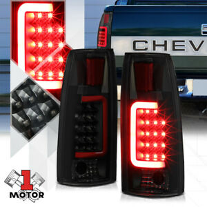 Black Smoked Tron Led Bar 3d Red C Neon Tail Light Lamp For 88 00 C10 Escalade