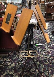 Antique Cast Iron Wood Rare Double Sided Dictionary Bible Music Stand Lw Noyes