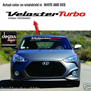 Windshield Decal Fits Hyundai Veloster Turbo 2011 2012 2013 To 2017
