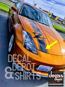 Vinyl Decal Stripes For Hood Fits Nissan 350z 370z Touring Coupe Convertible