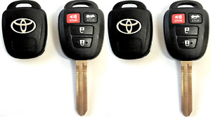 X2 Toyota Corolla Camry Rav4 2012 2016 4 Button Remote Head Key Shell A Quality