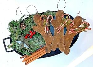 Primitive Country Scented Grungy Gingerbread Boy Hanger Inches