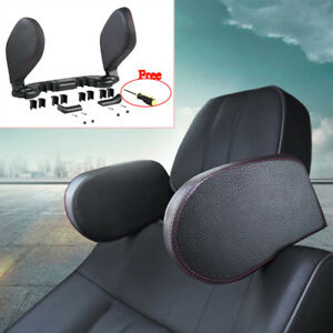 Car Headrest Neck Pillow Head Prop Seat Rest Nap Side Cushion Pad Travel Black