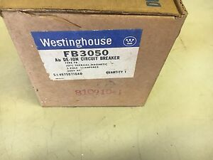 Westinghouse Fb3050 New In Box 3p 50a 600v Breaker See Pictures a63