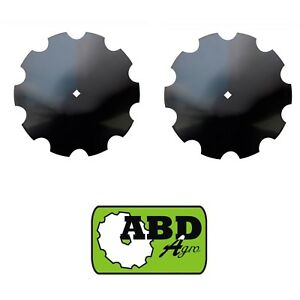 20 X4mm Notched Disc Blade Center Hole 1 1 8 Sq Or 1 1 4 R lot Of 2 Blades