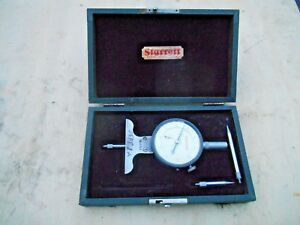Starrett No 644 441 Depth Dial Indicator 001 Usa With Case