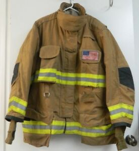 Janesville Lion Firefighter Turnout Gear Bunker Padded Jacket Size 50 X 32r