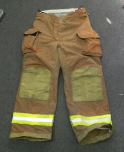 Janesville Lion Firefighter Turnout Gear Bunker Padded Pants Size 38l X 28